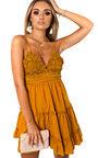 Dora Frill Crochet Backless Dress Thumbnail