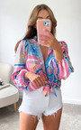 Dottie Printed Oversized Shirt Thumbnail