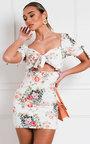 Dove Floral Cut Out Mini Dress Thumbnail
