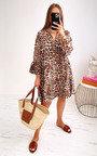 Jelena Tiered Leopard Dress Thumbnail