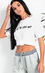 Drizzy Slogan Long-lined T-Shirt Thumbnail