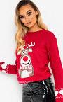 Dunder Reindeer Christmas Jumper Thumbnail
