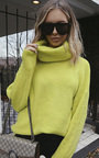 Dylan Neon Oversized Poloneck Jumper Thumbnail