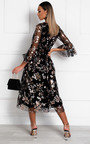 Eden Floral Tulle Maxi Dress Thumbnail