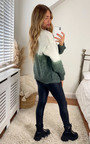 Eilidh Two Tone Knitted Cardigan Thumbnail