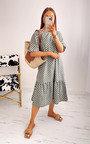 Elena Printed Ruffle Midi Dress Thumbnail