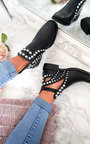 Elin Studded Cut Out Ankle Boots Thumbnail