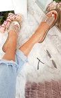 Elis Slip On Diamante Perspex Sandals  Thumbnail