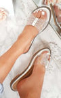 Elis Slip On Diamante Perspex Sandals  Thumbnail