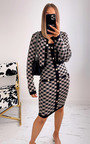 Elizabeth Checked Dress and Cardigan Co-ord with Button Detail  Thumbnail