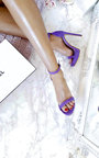 Ella Barely There Faux Suede Platform Heels Thumbnail