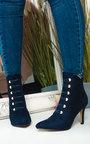 Ella Corset Lace Up Heeled Boots  Thumbnail