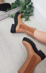 Ella Faux Leather Chunky Boots Thumbnail