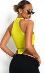 Ella Racerback Basic Ribbed Bodysuit Thumbnail