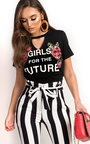Elle Slogan Embellished T-Shirt Thumbnail