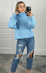 Ellen High Neck Chunky Knitted Jumper Thumbnail