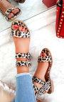 Elletra Double Strap Leopard Print Sandals  Thumbnail