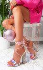 Elsie Iridescent Diamante Embellished Heels Thumbnail