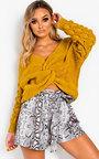 Elsie Knitted Crossover Jumper Thumbnail