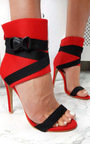 Emera Peep Toe Stiletto Buckle Heels  Thumbnail