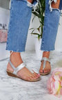 Emie Embellished T-Bar Wedged Sandal Thumbnail