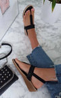 Emie Embellished T-Bar Wedged Sandal Thumbnail
