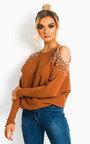 Emily Cold Shoulder Embellished Jumper Thumbnail