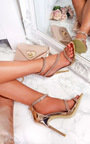 Emily Diamante Strap Barely There Heels Thumbnail