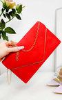 Emily Faux Suede Envelope Clutch Bag Thumbnail