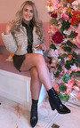 Emma Furry Cropped Jacket  Thumbnail