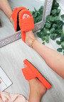 Emma Textured Print Slippers Thumbnail