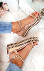 Emmy Studded Braided Flatforms Thumbnail