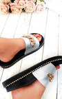 Emnia Chain Embellished Sliders  Thumbnail