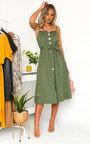 Erin Button Up Tie Dress Thumbnail