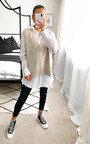Erin Knitted Vest Over Shirt Thumbnail