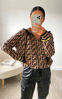Erin Printed Hooded Zipped Jumper Thumbnail