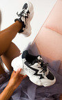 Erin Snake Print Shimmer Chunky Trainers Thumbnail