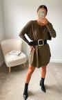 Erinna Oversized Knitted Jumper Dress Thumbnail
