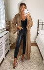 Erinna Ruffle Longline Over Coat Thumbnail