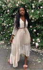 Etta Shimmer Frill Maxi Dress Thumbnail