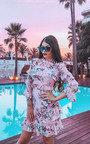 Eva Floral Frilled Dress Thumbnail