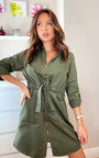 Eva Zip Up Shirt Dress Thumbnail