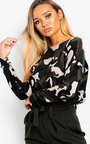 Eve Knitted Camo Print Jumper  Thumbnail