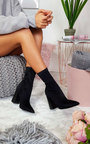 Everly Lycra Heeled Ankle Boots Thumbnail