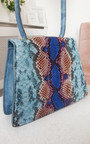 Faith Croc Print Shoulder Handbag Thumbnail