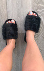Faith Faux Fur Slippers Thumbnail
