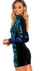 Fallon Sequin Embellished Velvet Mini Dress Thumbnail