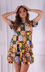 Farah Tiered Mini Dress with Matching Cross Body Bag Thumbnail