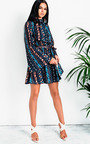 Farrow High Neck Floral Dress Thumbnail