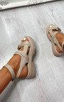 Faye Triple Strap Buckle Sandals Thumbnail
